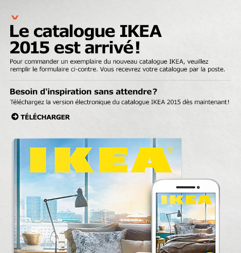 gratuit commander un catalogue ikea 2015