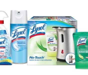 lysol produits 350x300 - Coupon rabais de 1$ sur deux produits Lysol