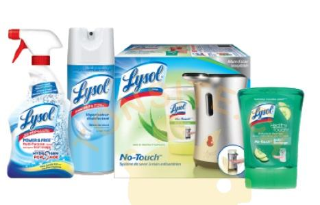 lysol produits - Coupon rabais de 1$ sur deux produits Lysol