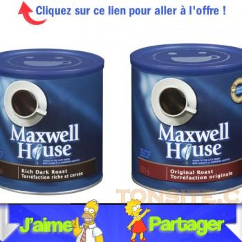 maxwell jpg 350x350 - Coupon rabais de 1$ sur un produit de café MAXWELL HOUSE (tout format ou variété)