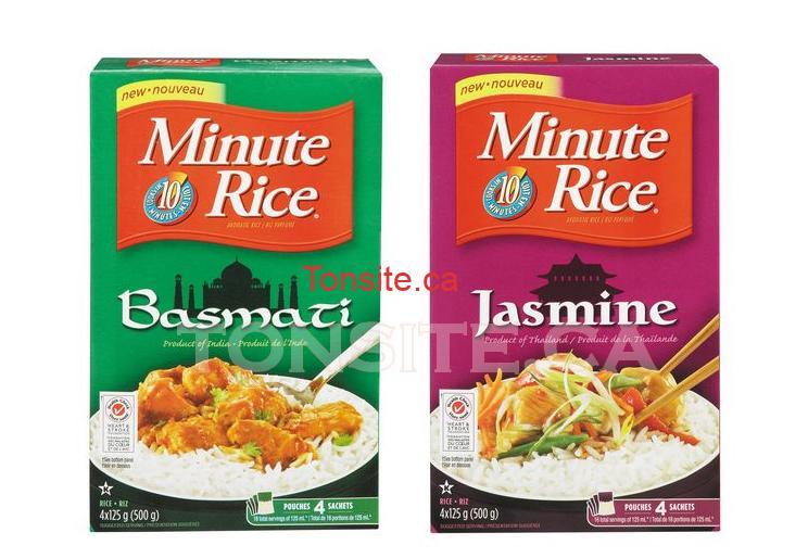 minute rice basmati jasmine - Coupon rabais de 1$ sur n'importe quel produit Minute Rice riz basmati ou riz jasmin de 500g