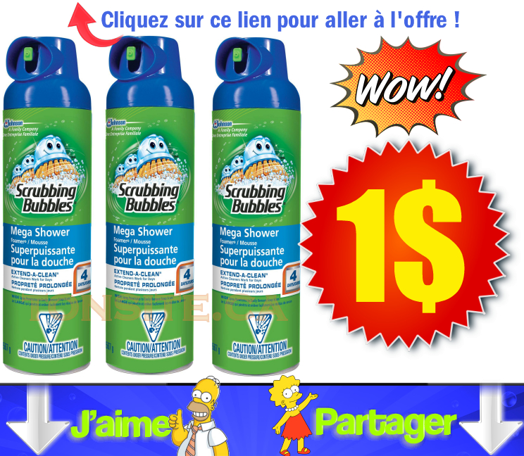 scrubbing bubbles aerosol 567 1 jpg - Nettoyant pour salle de bain Scrubbing Bubbles à 1$ seulement