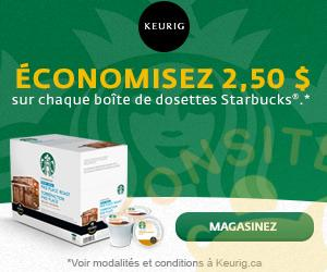 starbucks 250 - Rabais de 2,50$ sur chaque boîte de dosettes Starbucks