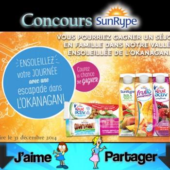 sunrype concours 350x350 - Concours Sunrype: Gagnez un chèque de 10.000$