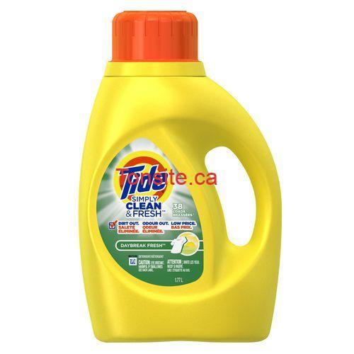 tide simply - Détergent à lessive Tide Simply Clean & Fresh à 2$ au lieu de 5,22$