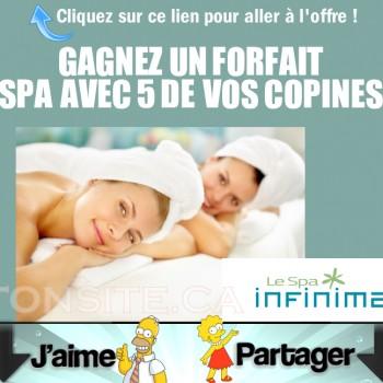 SPA INFINIMA 350x350 - Concours SPA Infinima: Gagnez un forfait Spa avec 5 de vos copines chez les Spa Infinima!