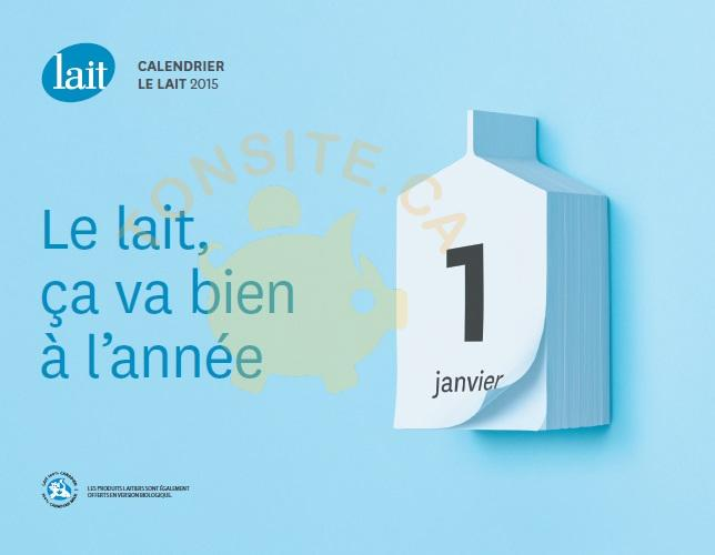calendrier lait - GRATUIT: Obtenez le calendrier La Famille du Lait gratuit