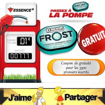 canadian frost 350x350 - CanadianTire: Coupon de gratuité pour Frost de Ice Breakers + rabais sur l'essence!