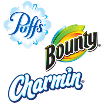 charmin puffs bounty 350x350 - Coupon rabais de 1$ sur un produit Charmin, Bounty ou Puffs