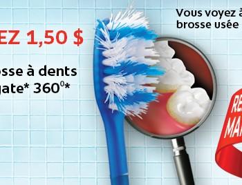 colgate coupon 350x268 - Coupon rabais de 1,50$ sur une brosse à dents manuelle Colgate 360