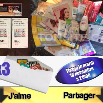 concours41 350x350 - Concours Tonsite.ca: Gagnez 34 échantillons ou 3 coupons de gratuité ou 1 des 3 enveloppes de coupons