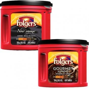folgers 750g 350x350 - Café moulu Folgers à 5,49$ seulement