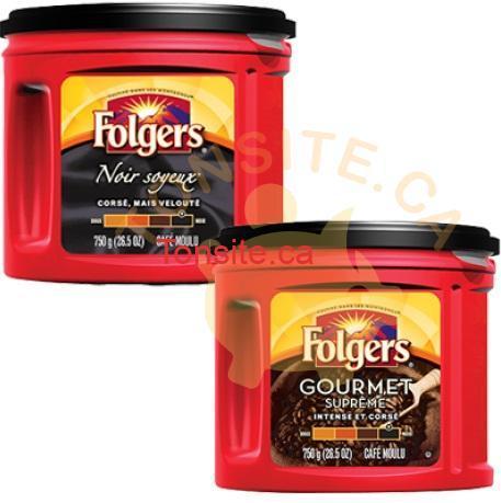 folgers 750g - Café moulu Folgers à 5,49$ seulement