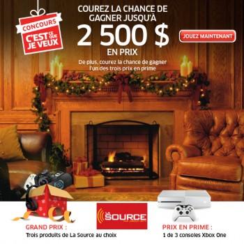 lasource concours.png 350x350 - Concours La Source: 2500$ en prix à gagner!