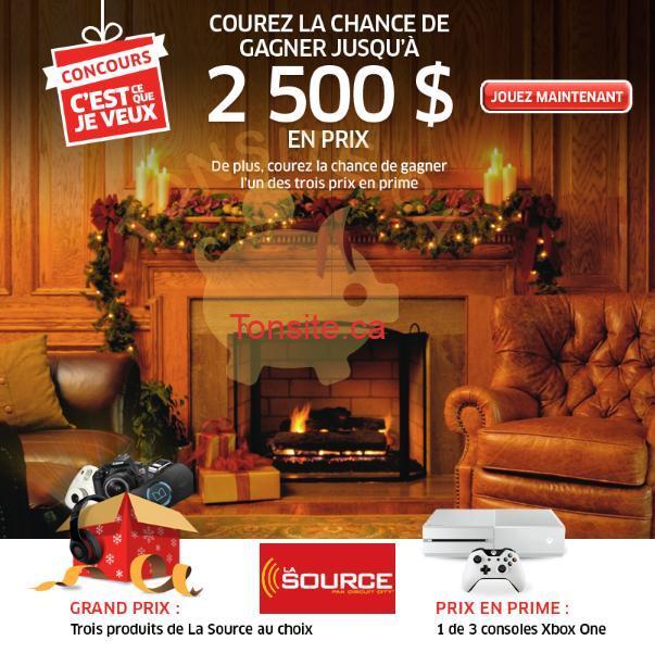 Photo of Concours La Source: 2500$ en prix à gagner!