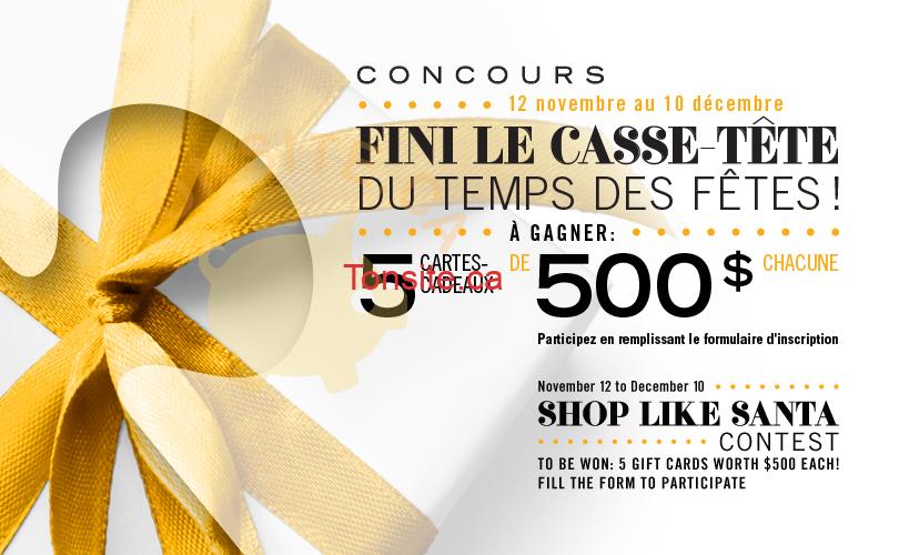marche central - Concours Marché Central: Gagnez 1 des 5 cartes-cadeaux de 500$
