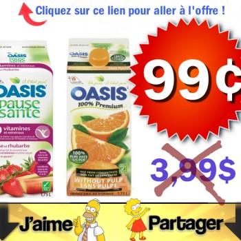 oasis 99 jpg 350x350 - Jus Oasis 1,75L à 99¢ après coupon