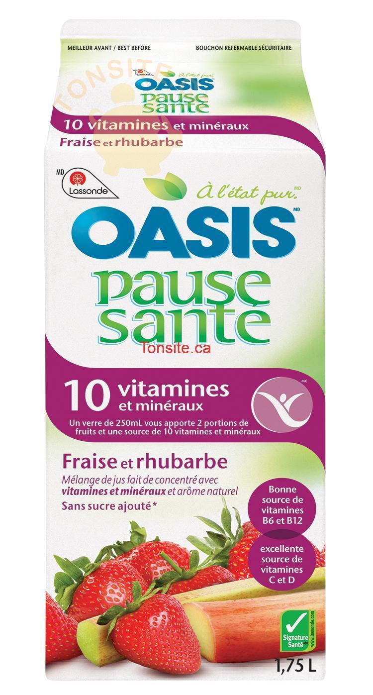 oasis pause santé - Jus d'orange ou jus Pause Santé Oasis à 1.99$ au lieu de 3,97$