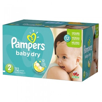 pampers babydry 350x350 - Boîte de couches jetables Pampers Baby Dry à 17,55$  après coupon
