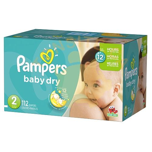 pampers babydry - Boîte de couches jetables Pampers Baby Dry à 17,55$  après coupon