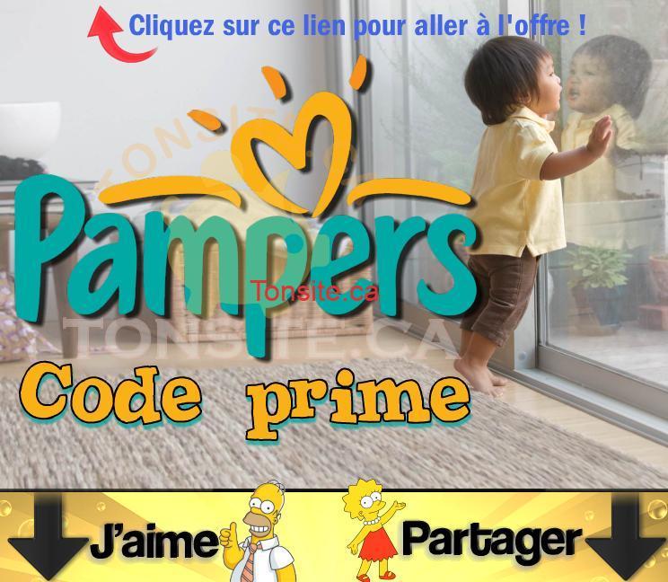 pampers code prime jpg - 2 codes prime Pampers d'une valeur de 20 points!