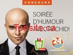 rachid concours - Concours 24hmontreal: Gagnez un forfait-cadeau pour 6 personnes incluant 6 billets pour assister au spectacle Rachid Badouri