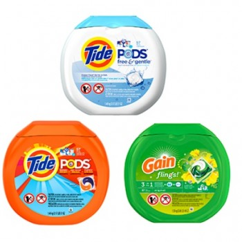 tide pods gains 350x350 - Coupon rabais de 1$ sur un produit Tide PODS, Tide PODS Free & Gentle ou Gain flings, au choix