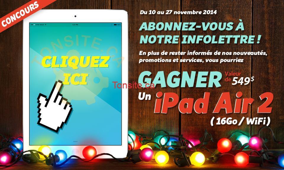 zone image ipad - Concours Zone Image: Gagnez un iPad Air 2 16GO (valeur de 549$)