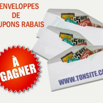 ENVELOPPE COUPONS1 JPG 350x350 - Concours Éclair: Gagnez 1 des 3 enveloppes de coupons rabais