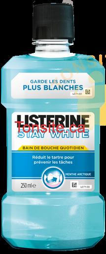 LISTERINE STAY WHITE - Rince-bouche Listerine à 1.50$ après coupon!