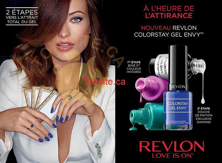 REVELON3DOLLAR VERNIS - Coupon rabais de 3$ sur les vernis Revlon Colorstay Gel Envy Diamond Top Coat