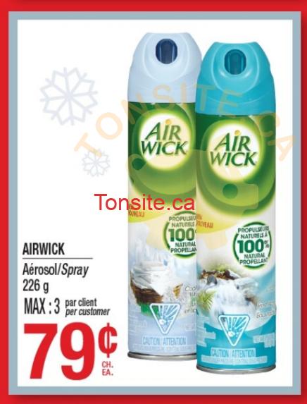 airwick aerosol 69¢ - Aérosol AirWick à 79¢ (sans coupon)