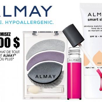 almay 3 coupon 350x350 - Coupon rabais de 3$ sur tout produit Almay de 8$ ou plus