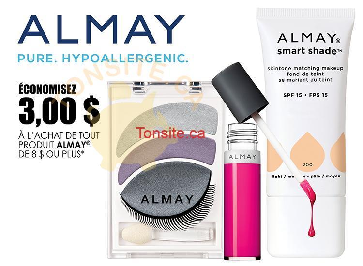 almay 3 coupon - Coupon rabais de 3$ sur tout produit Almay de 8$ ou plus