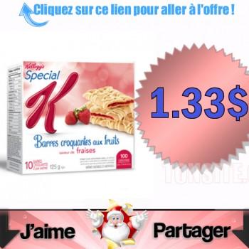 barres special k 1.33 dol 350x350 - Barres croquantes aux fruits Special K à 1.33$ après coupon.