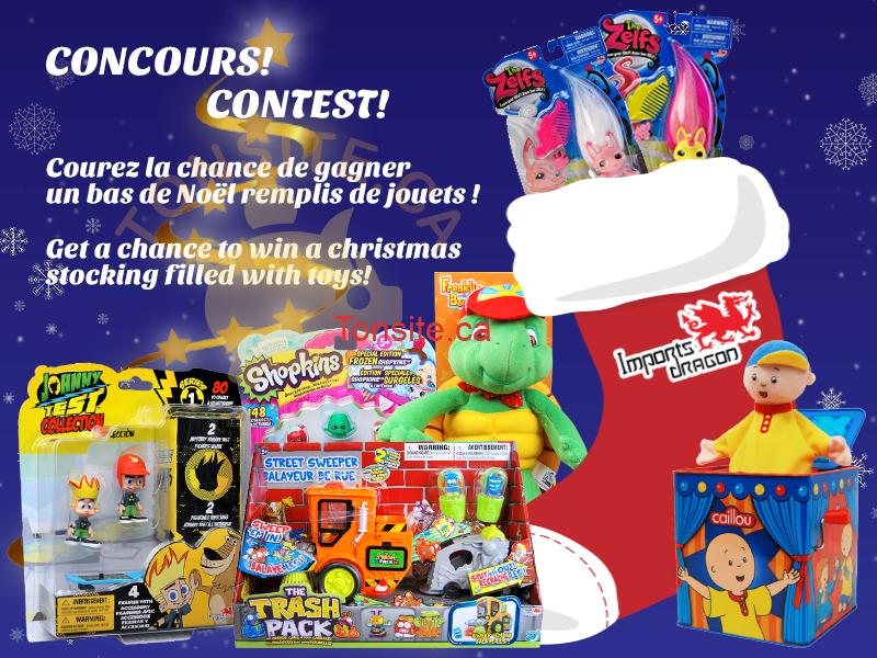 basnoel concours - Concours Import Dragon: Gagner un bas de Noël remplis de jouets