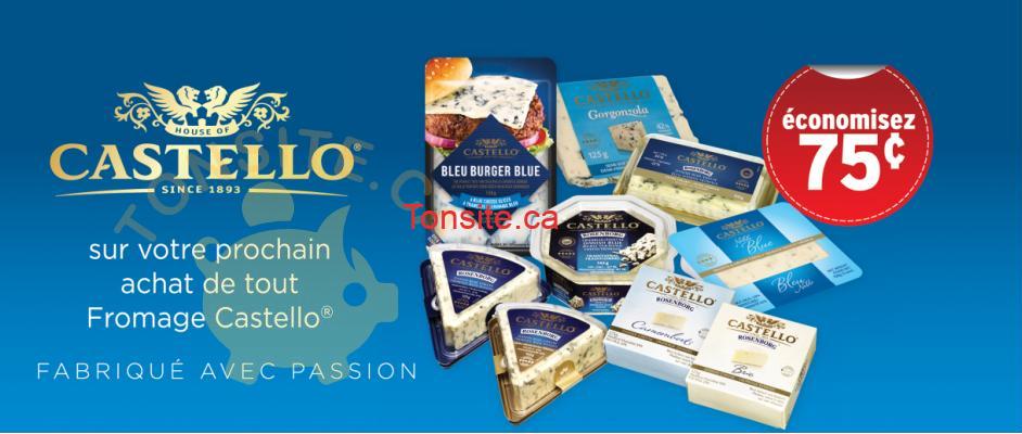 castello coupon - Coupon rabais de 75¢ sur tout fromage Castello