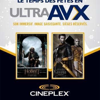cineplex bonification 350x350 - Cineplex: Obtenex une bonification gratuite pour voir un film dans une salle UltraAVX