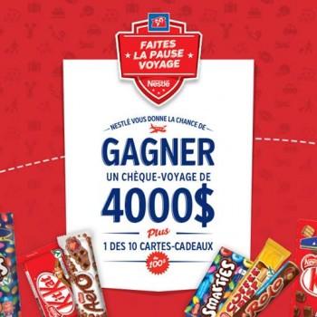 couche tard concours 350x350 - Concours Couche-Tard: Gagnez un chèque-voyage de 4000 $ ou l'une des 10 cartes-cadeaux de 100$ !