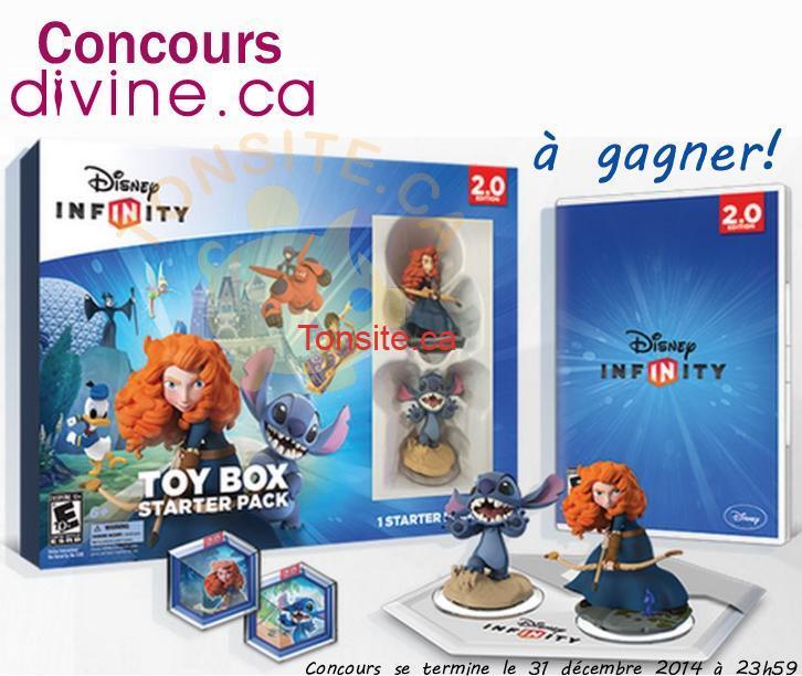 divine concours - Concours Divine: Gagnez un ensemble de départ Coffre à jouets de Disney Infinity, Édition 2.0!