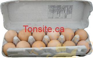 douzaine oeufs - 12 gros œufs à 1,29$ au lieu de 3,49$