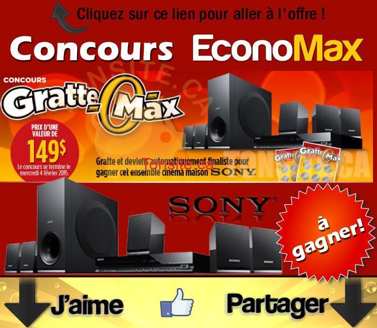 economax concours1 - Concours EconoMax: Gagnez un ensemble cinéma maison Sony!