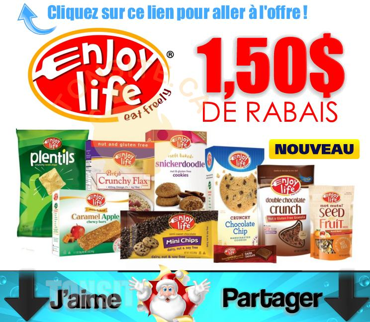 enjoy life coupons - Coupon rabais de 1,50$ sur 2 produits Enjoy Life
