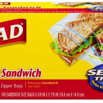 glad 100sacs 350x350 - Paquet de 100 sacs à sandwich Glad à 1,22$ après coupon