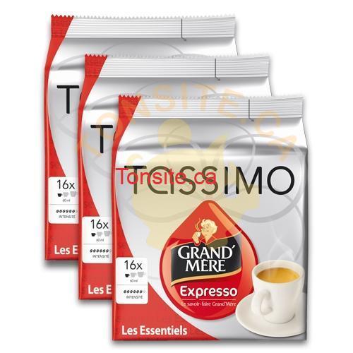 grand mere expresso - Coupon rabais de 1$ sur un paquet de TDISCs TASSIMO (tout format ou variété)