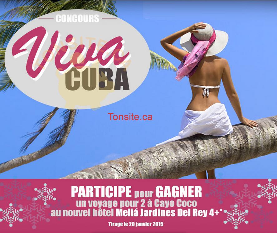 jaimonvoyage concours - Concours Jaimonvoyage: Gagnez un voyage pour 2 à Cayo Coco à Cuba!