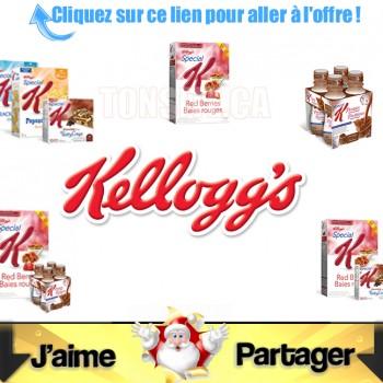 kelloggs coupons caches 350x350 - 20.97$ en coupons rabais sur les produits Kellogg's
