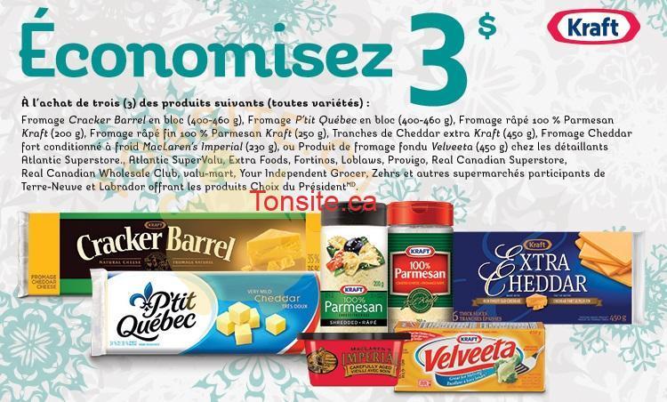 Coupon Rabais De 3$ Sur Les Produits De Fromage Kraft