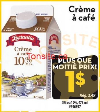 lactantia creme 1 - Crème à café 5% ou 10% Lactantia à 1$ (sans coupon)