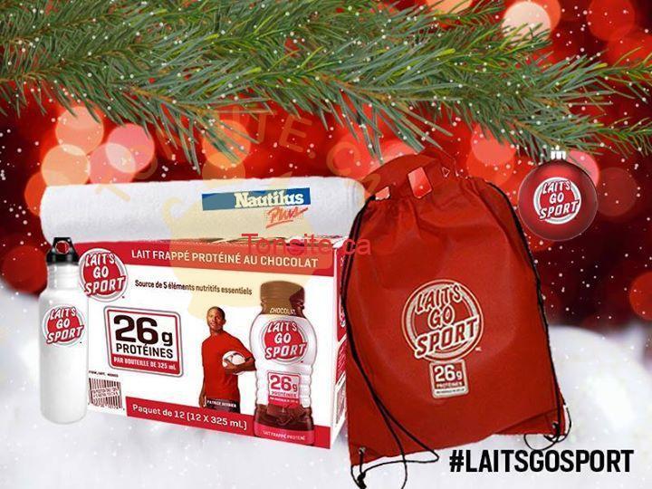 laitsgosport concours - Concours Lait's Go Sport: Gagnez un ensemble cadeau comprenant un abonement d'un an chez Nautilus Plus